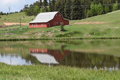 Red Barn Burgess Res Divide Co Art Print