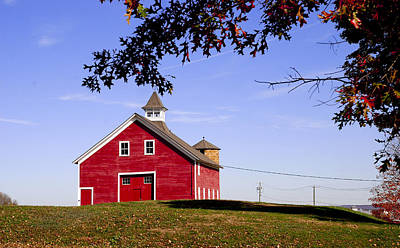 Photograph - Red Barn by Mark Wiley