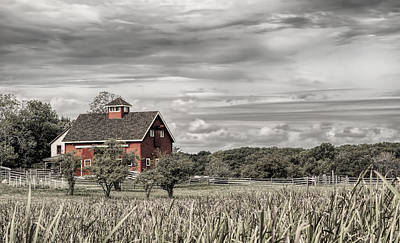 Photograph - Red Barn by Mick Burkey