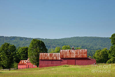 Art Print featuring the photograph Red Barn Near Quechee by Susan Cole Kelly