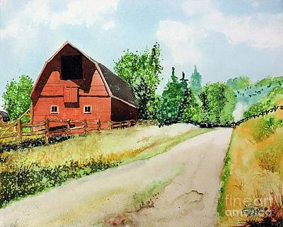 Painting - Red Barn Near Steamboat Springs by Tom Riggs