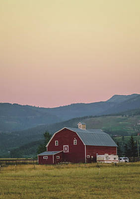 Art Print featuring the photograph Red Barn by Nisah Cheatham