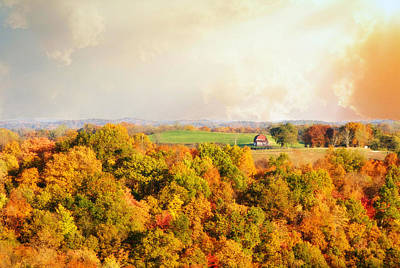 Old Country Roads Photograph - West Virginia Autumn by Chastity Hoff