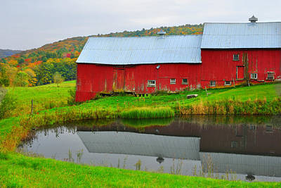 Photograph - Red Barn On Jenne Farm by Luke Moore