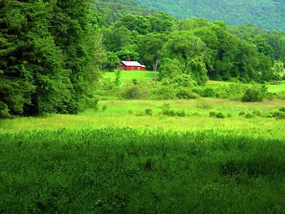 Photograph - Red Barn On The At by Raymond Salani III