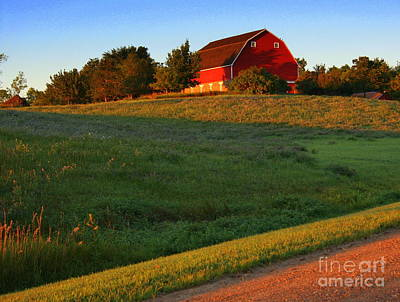 Photograph - Red Barn On The Hill by Julie Lueders