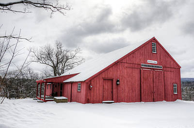 Photograph - Red Barn On Wintry Day by Donna Doherty