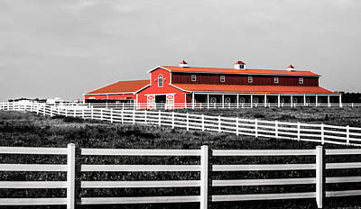 Red Barn Art Print by Parker Cunningham
