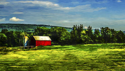 Painting - Red Barn by Rick Mosher