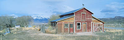 Old West .america Photograph - Red Barn, Route 50, Nevada by Panoramic Images