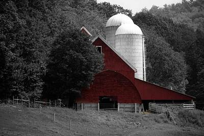 Photograph - Red Barn by Sherman Perry