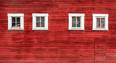 Red Barn Side Art Print by Todd Klassy
