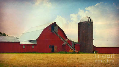 Photograph - Red Barn Silo by Beth Ferris Sale