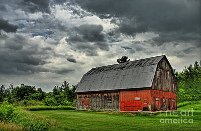 Red Barns Photograph - Red Barn by Tim Wilson