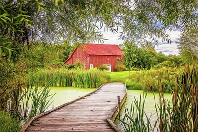 Rural Photograph - Red Barn by Tom Mc Nemar