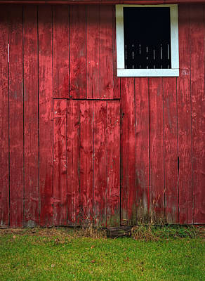 Red Barn Wall Original by Steve Gadomski