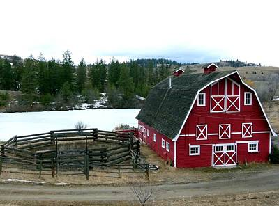 Photograph - Red Barn by Will Borden