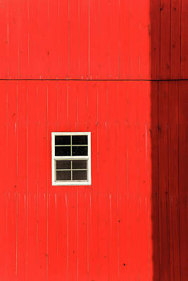 Photograph - Red Barn Window by Dan Sproul