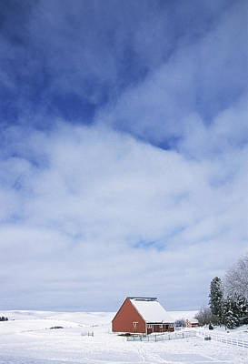 Photograph - Red Barn Winter by Doug Davidson