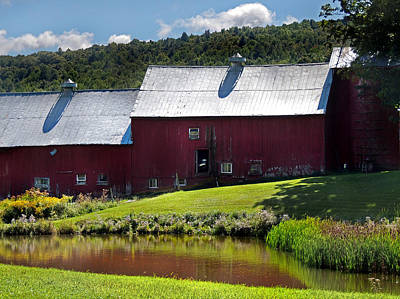 Photograph - Red Barns At Jenne Farm by Nancy Griswold