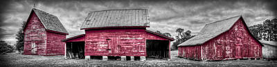 Windsor Castle Photograph - Red Barns At Windsor Castle by Williams-Cairns Photography LLC