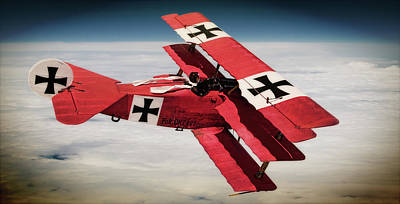 Photograph - Red Baron Panorama - Lord Of The Skies - Lomo Version by Weston Westmoreland