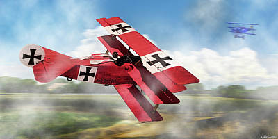 Photograph - Red Baron Panorama - Lord Of The Skies by Weston Westmoreland