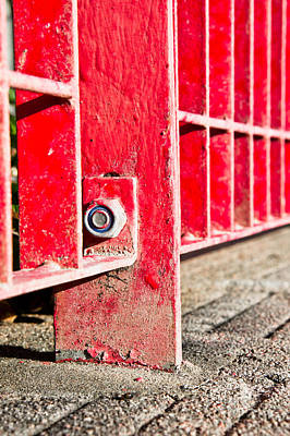 Red Bars Art Print by Tom Gowanlock