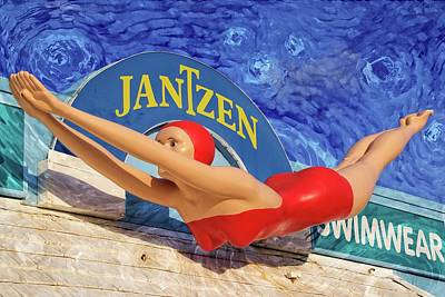 Photograph - Red Bathing Suit by Alice Gipson