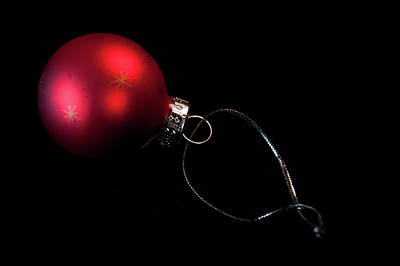 Photograph - Red Bauble by Helen Northcott