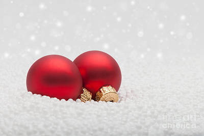 Photograph - Red Baubles by Diane Macdonald
