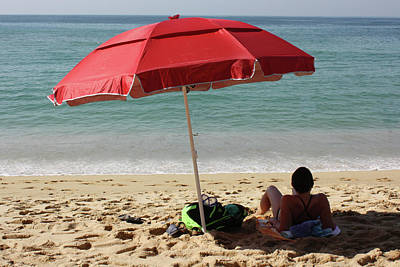 Photograph - Red Beach Umbrella by Gravityx9 Designs
