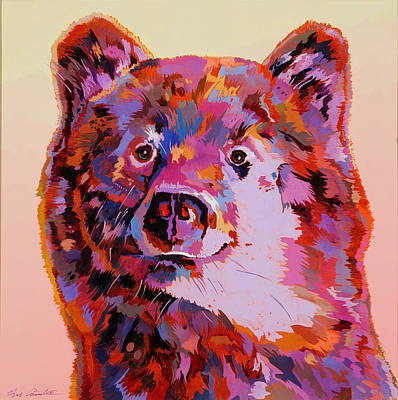 Abstract Realism Painting - Red Bear by Bob Coonts