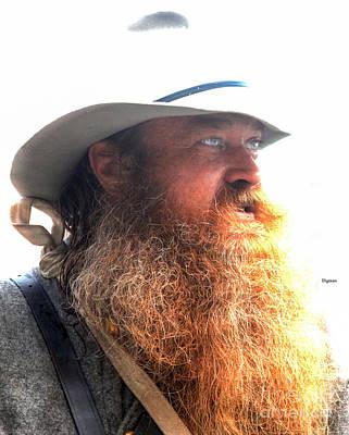 Digital Art - Red Beard  by Steven Digman