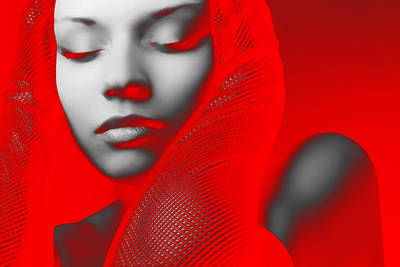Jewelry Digital Art - Red Beauty  by Naxart Studio