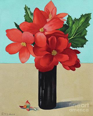 Red Begonias Art Print