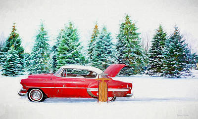 Painting - Red Belair In The Snow - Painting by Ericamaxine Price