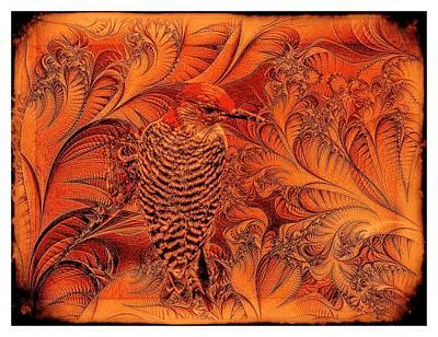 Digital Art - Red Belied Woodpecker by Rusty R Smith