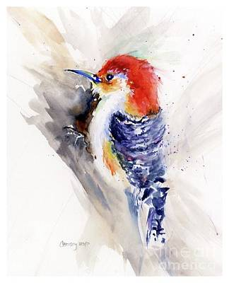 Painting - Red-bellied Woodpecker by Christy Lemp