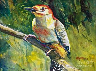 Painting - Red Bellied Woodpecker by Joyce A Guariglia