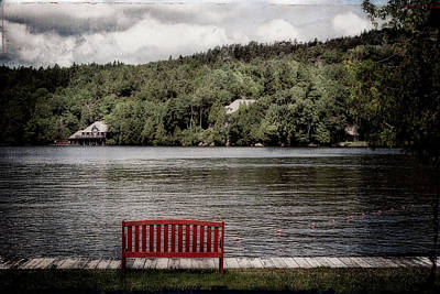 Red Bench Art Print