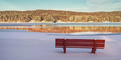 Photograph - Red Bench by Darylann Leonard Photography