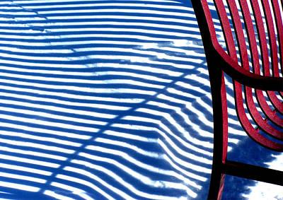 Red Bench Art Print by Steven Huszar