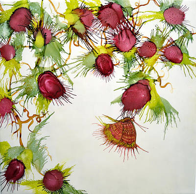Painting - Red Berries And Butterfly by Jennifer Creech