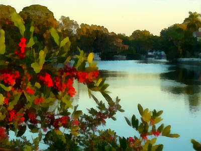 Photograph - Red Berry Canal View by Tawes Dewyngaert