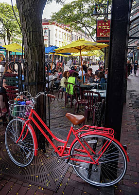 Photograph - Red Bicycle by Kendall McKernon