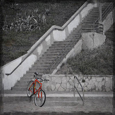 Red Bicycle Art Print by Kevin Bergen