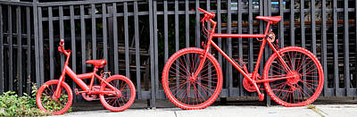 Photograph - Red Bicycles by Andrew Fare