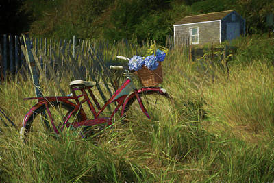 Photograph - Red Bike by Betty Wiley