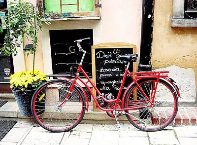 Photograph - Red Bike In Poland by Dora Hathazi Mendes